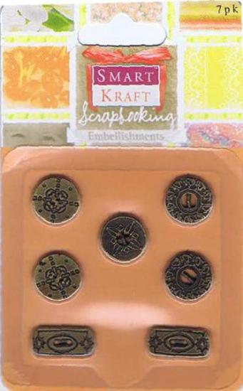 Picture of Metal 7Pk Buttons