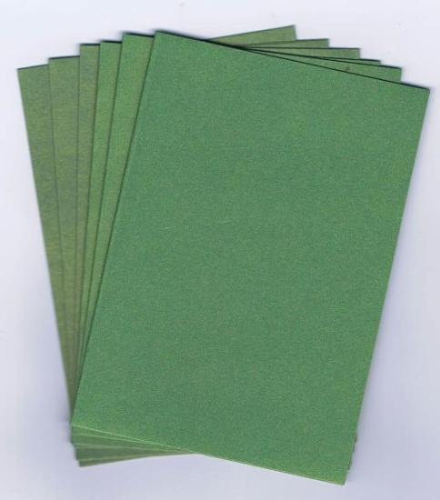 Picture of 6 Sets of Pearlized C6 Cards & Envelopes Green