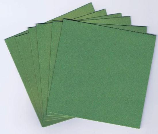 Picture of 6 Sets of Pearlized Square Cards & Envelopes Green