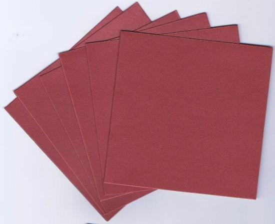 Picture of 6 Sets of Pearlized Square Cards & Envelopes Dark Red