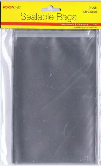 Picture of Sealable Bags C6 Closed 25Pk