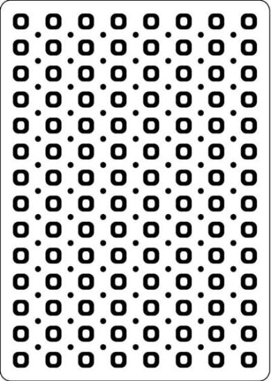 Picture of Portacraft Embossing Folder Spots & Dots 15cm x 10cm