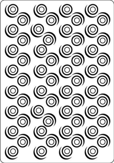 Picture of Portacraft Embossing Folder Swirls 15cm x 10cm