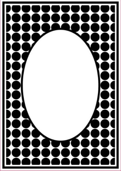 Picture of Portacraft Embossing Folder Dot Oval Frame 15cm x 10cm