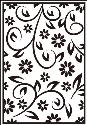 Picture of Portacraft Embossing Folder Floral Summer 15cm x 10cm
