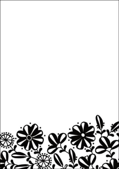 Picture of Portacraft Embossing Folder Floral Base 15cm x 10cm