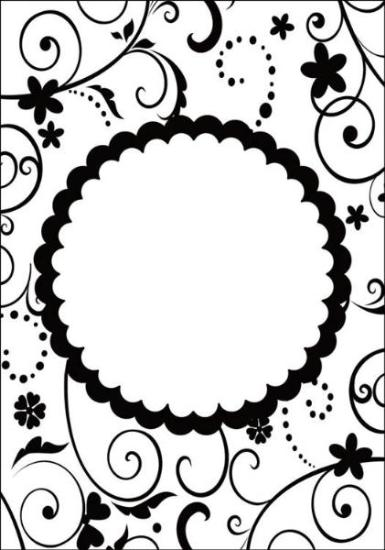Picture of Portacraft Embossing Folder Flourish with Round Frame 15cm x 10cm