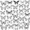 Picture of Romantique Specialty Sheet Acetate - Butterflies