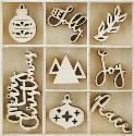 Picture of Kaiser Wooden Flourishes - Jolly Christmas
