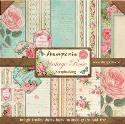 "Picture of Stamperia Vintage Rose 12"" Paper Pad 10Pk"