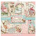 """Picture of Stamperia Pink Christmas 12"""" Paper Pad 10Pk"""