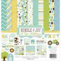 "Picture of Echo Park Bundle of Joy A New Addition Boy - 12"" 12 Double Sided Papers & Sticker Sheet"