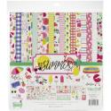 "Picture of Echo Park Best Summer Ever - 12"" 12 Double Sided Papers & Sticker Sheet"