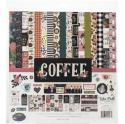 "Picture of Echo Park Coffee - 12"" 12 Double Sided Papers & Sticker Sheet"