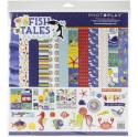 "Picture of PhotoPlay Fish Tales - 12"" 12 Double Sided Papers & Sticker Sheet"