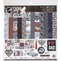 "Picture of PhotoPlay Best Dad Ever - 12"" 12 Double Sided Papers & Sticker Sheet"
