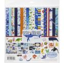 "Picture of Carta Bella Fish & Friends - 12"" 12 Double Sided Papers & Sticker Sheet"