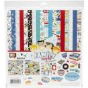 "Picture of Carta Bella Family Night - 12"" 12 Double Sided Papers & Sticker Sheet"