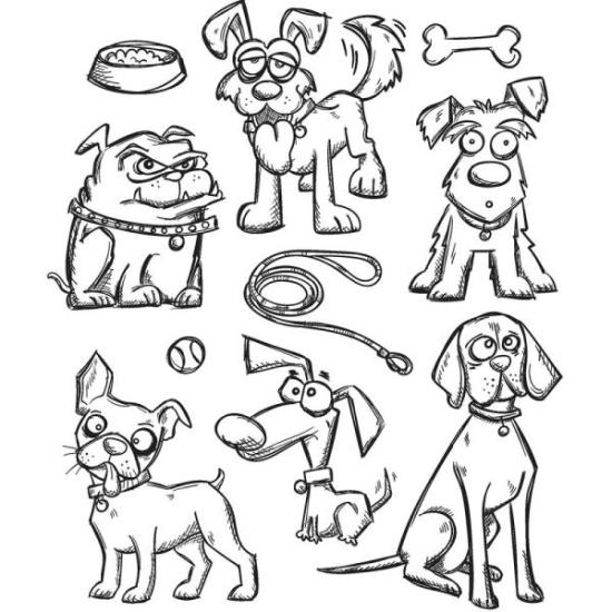 Picture of Tim Holtz - Stampers Anonymous - Crazy Dog Cling Stamp