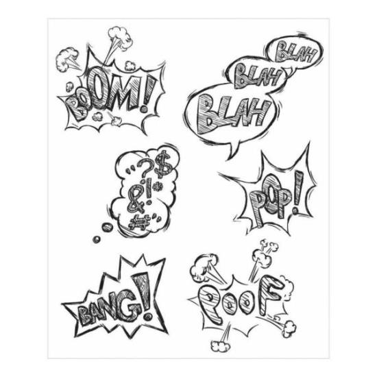 Picture of Tim Holtz - Stampers Anonymous - Crazy Thoughts Cling Stamp
