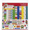 """Picture of PhotoPlay School Days - 12"""" 12 Double Sided Papers & Sticker Sheet"""