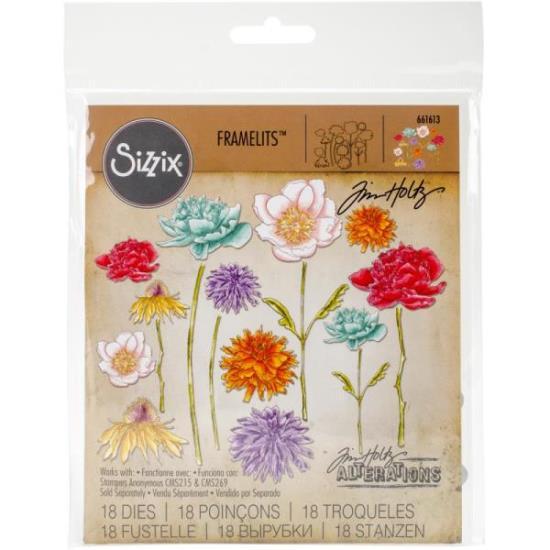 Picture of Tim Holtz - Sizzix - Flower Garden & Mini Bouquet Die Set