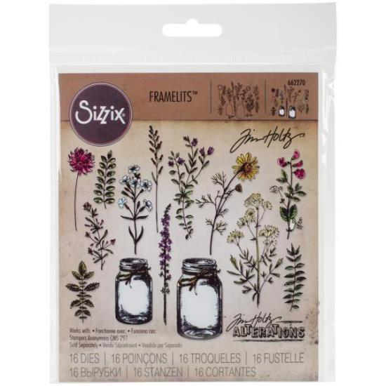 Picture of Tim Holtz - Sizzix - Flower Jar Die Set