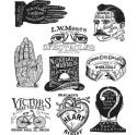 Picture of Tim Holtz - Stampers Anonymous - Eclectic Adverts Cling Stamp