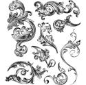 Picture of Tim Holtz - Stampers Anonymous - Scrollwork Cling Stamp