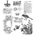 Picture of Tim Holtz - Stampers Anonymous - Shabby French Cling Stamp