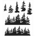 Picture of Tim Holtz - Stampers Anonymous - Tree Line Cling Stamp