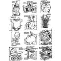 Picture of Tim Holtz - Stampers Anonymous - Mini Blueprints 8 Cling Stamp