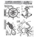 Picture of Tim Holtz - Stampers Anonymous - Mariner Blueprint Cling Stamp